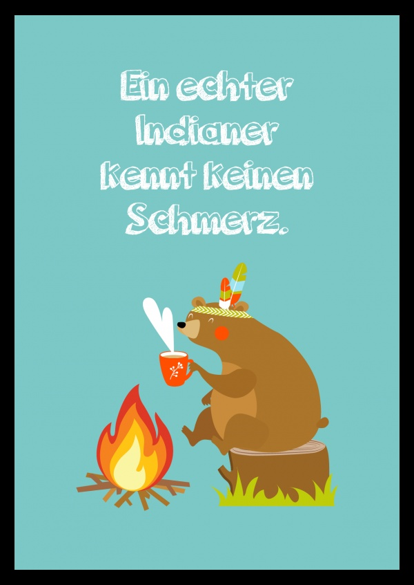 Illustration Bär am Lagerfeuer