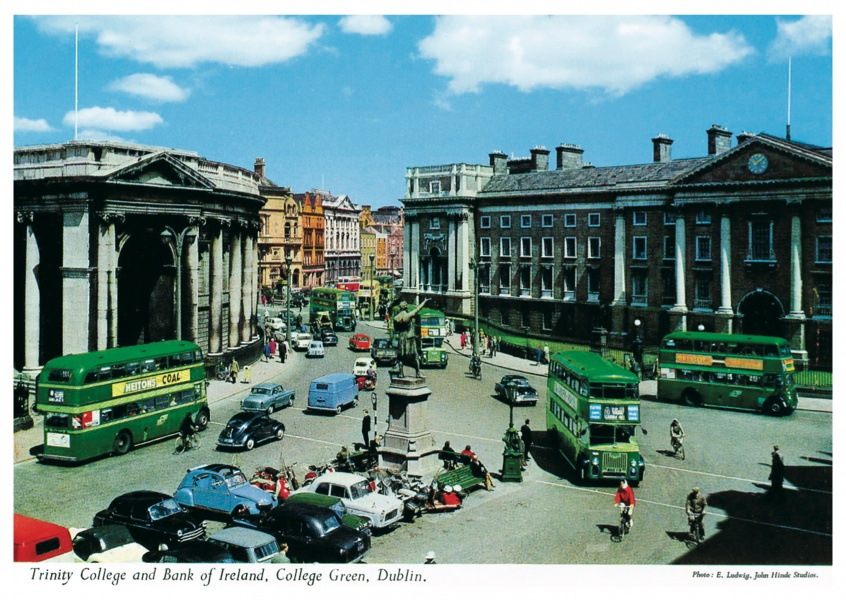 The John Hinde Archive Foto Trinity College and Bank of Ireland, Dublin