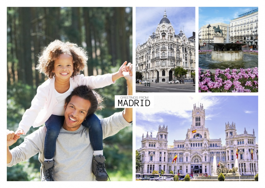 madrid fotocollage Plaza de la Cibeles