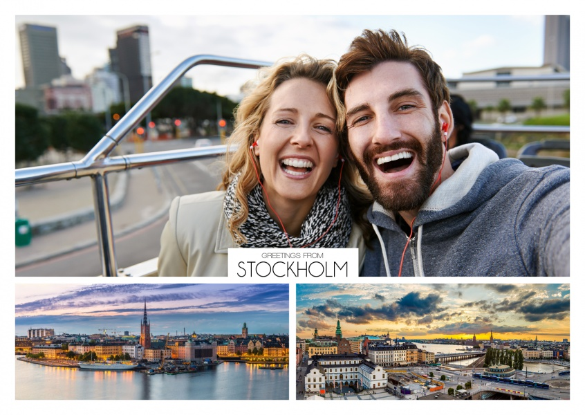 panorama fotocollage von stockholms skyline