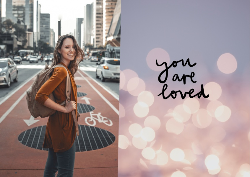 Postkarte Spruch You are loved