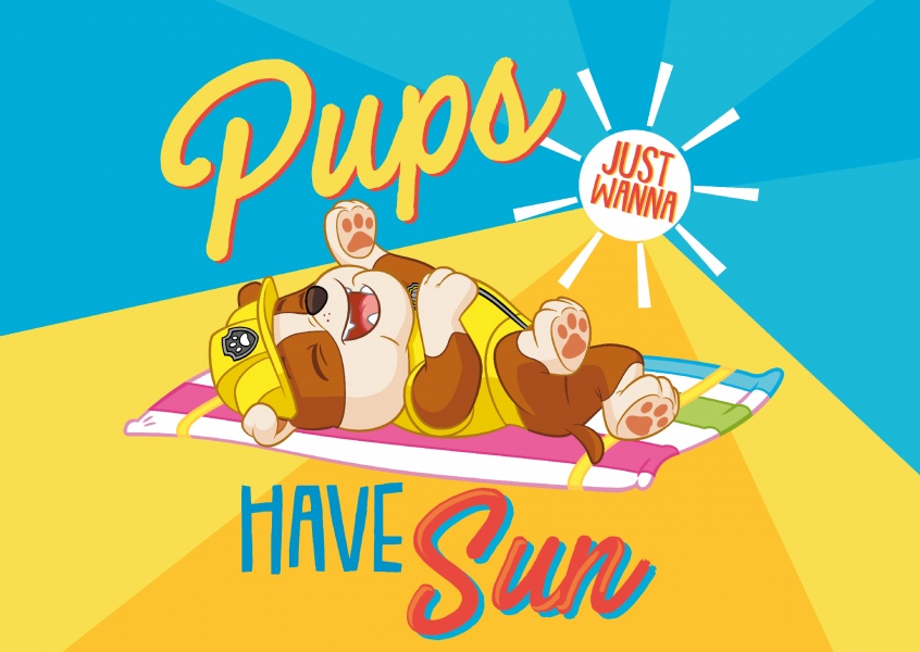 PAW Patrol Pups just wanna have sun