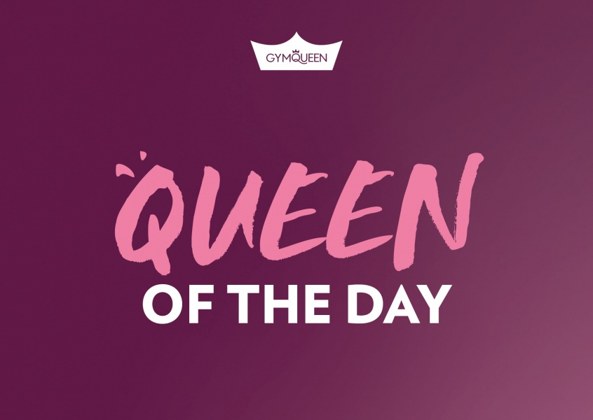 Postkarte GYMQUEEN Queen of the day