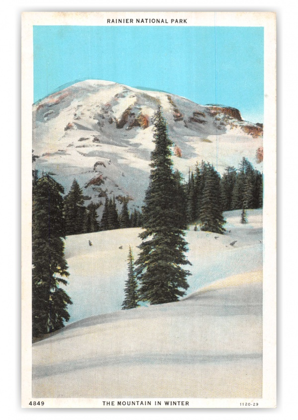 Rainier National Park, Washington, Mountain in Winter