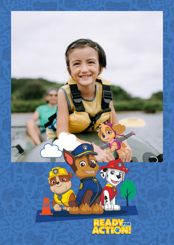 PAW Patrol postcard ready for action