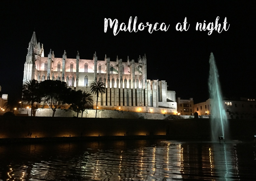 Photo of Palma de Mallorca's harbour by night–mypostcard