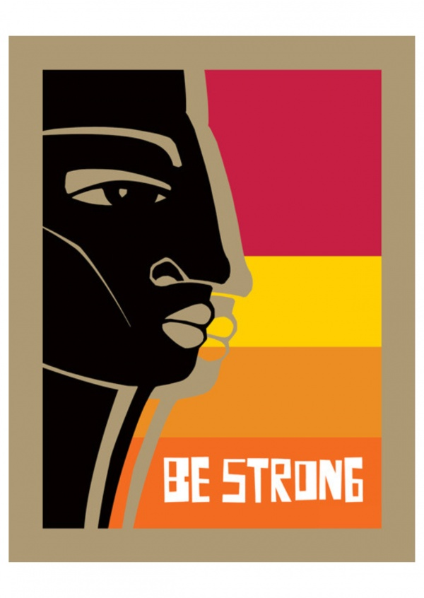 Bunte Illustration - Be strong