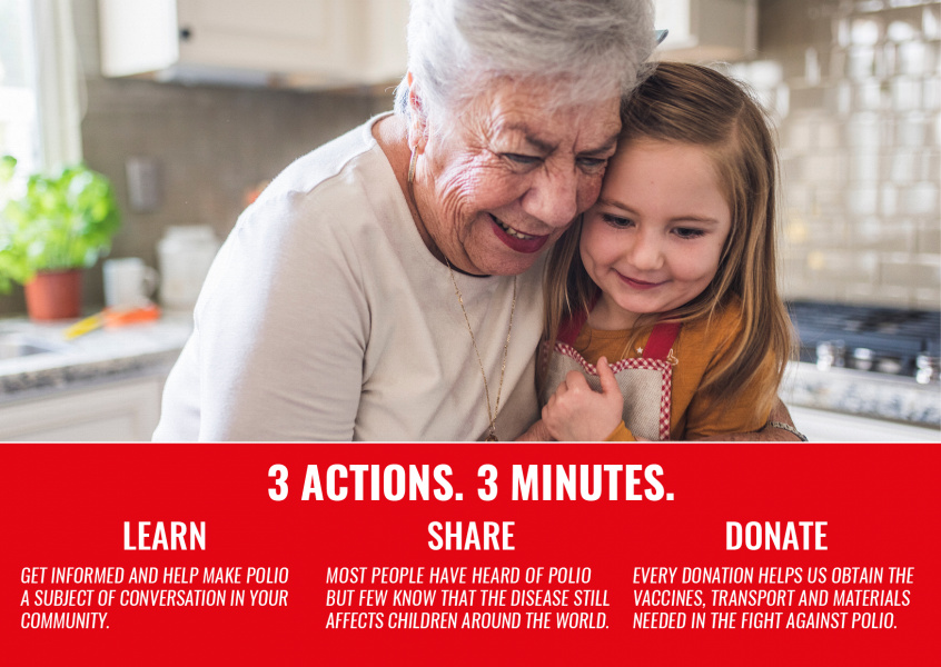 End polio now – Three actions Three minutes