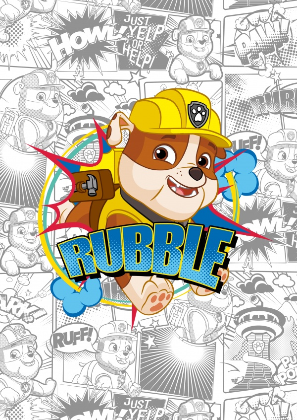 PAW Patrol postcard Rubble