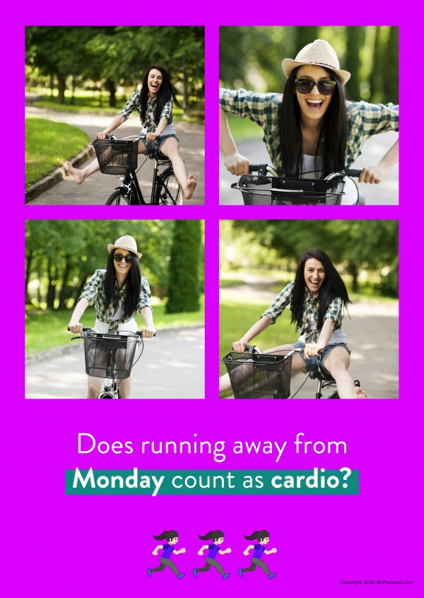 Does running away from Monday count as cardio?