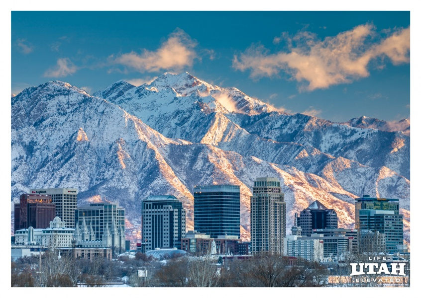Utah Salt lake city Vintern