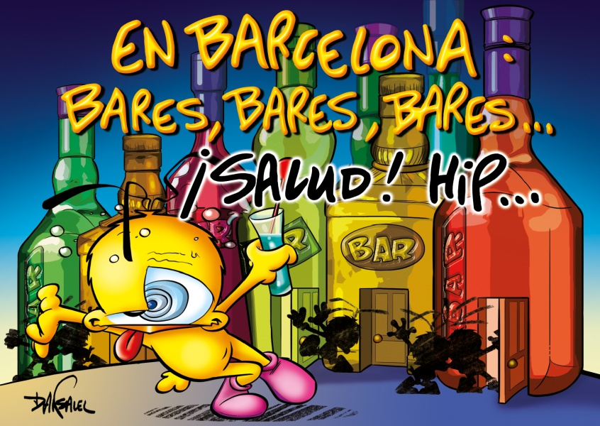 Le Piaf Cartoon En Barcelona: bares, bares, bares