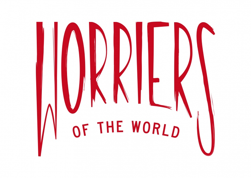 logog worriers of the world red on white
