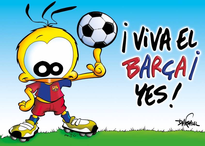Le Piaf Cartoon Viva el Barca! Yes!