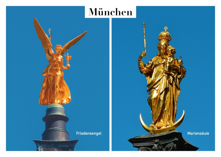 photo collage Munich monuments