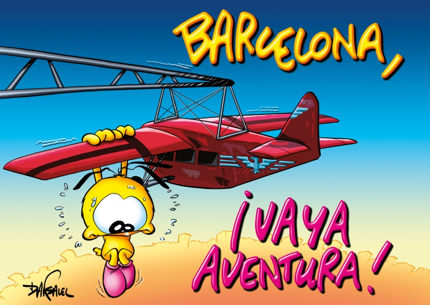 Le Piaf Cartoon Barcelona vaya aventura