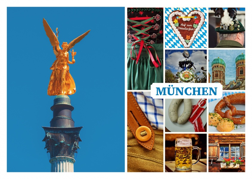 photo collage various pictures of Munich