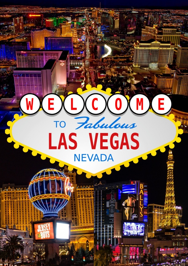 Las Vegas – Gambling Collage | Vacation Cards & Quotes | Send real  postcards online