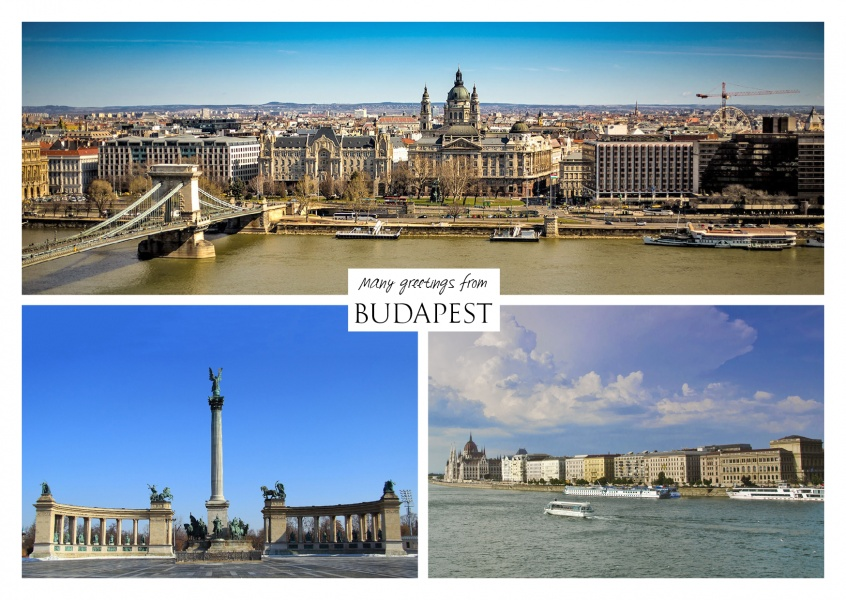 Three photos of Budapest the capitel of hungary