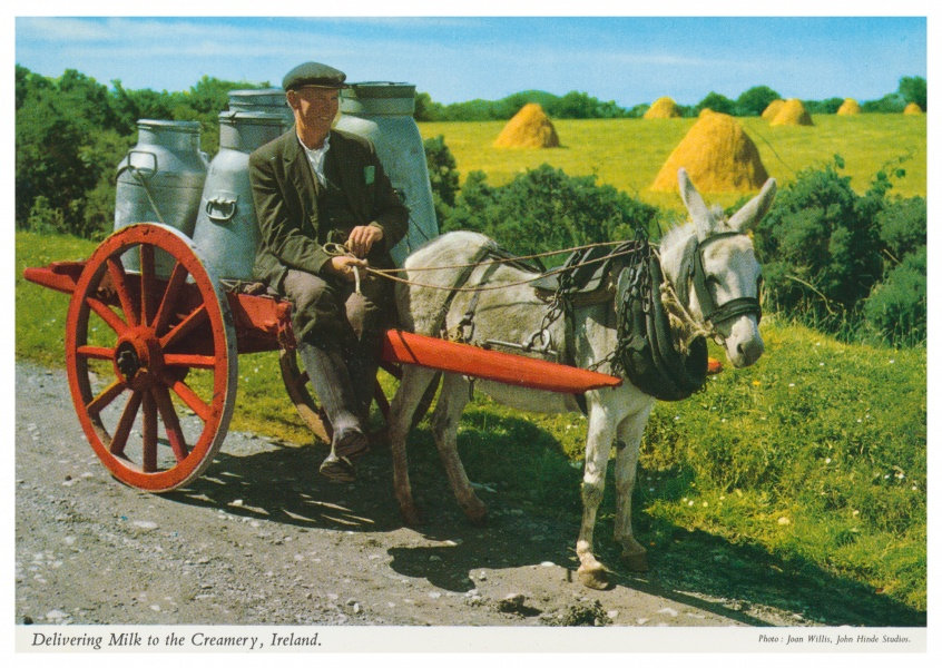 The John Hinde Archive photo delivering milk to the creamery