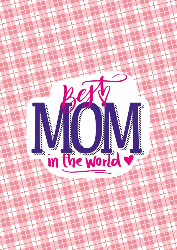 Best mom in the world vintage–mypostcard