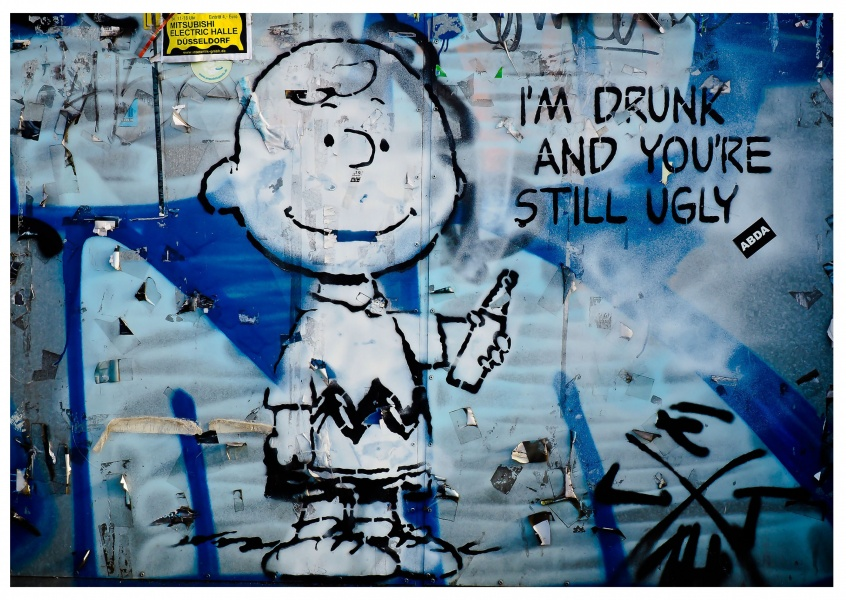photo street-art Charlie Brown