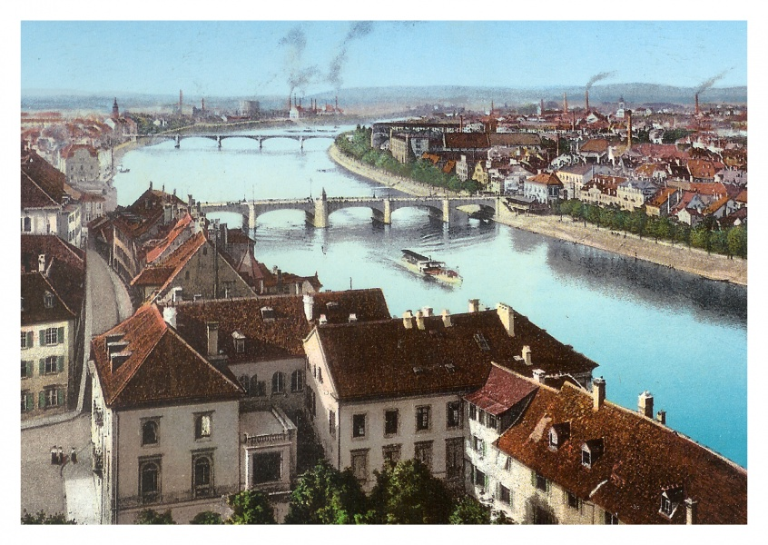 vintage style illustration of Basel / Bâle