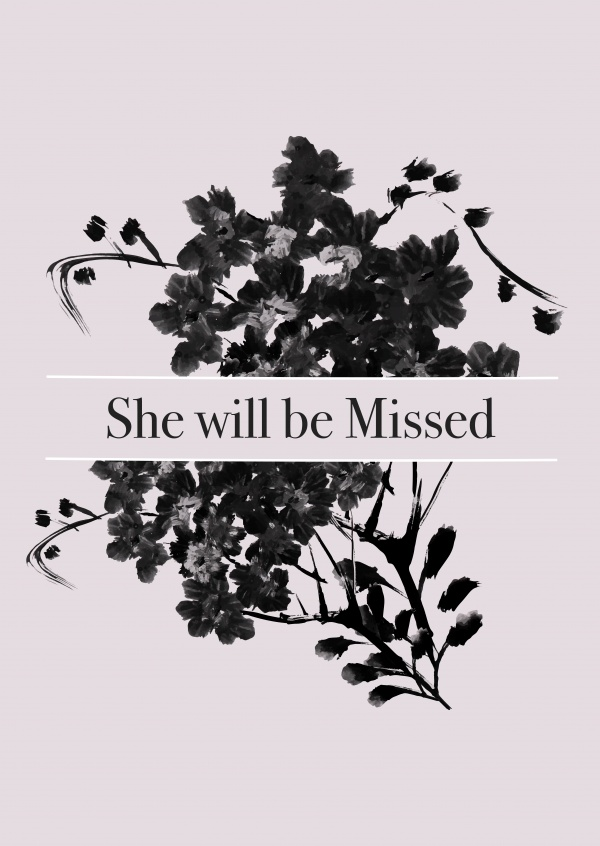 She will be missed
