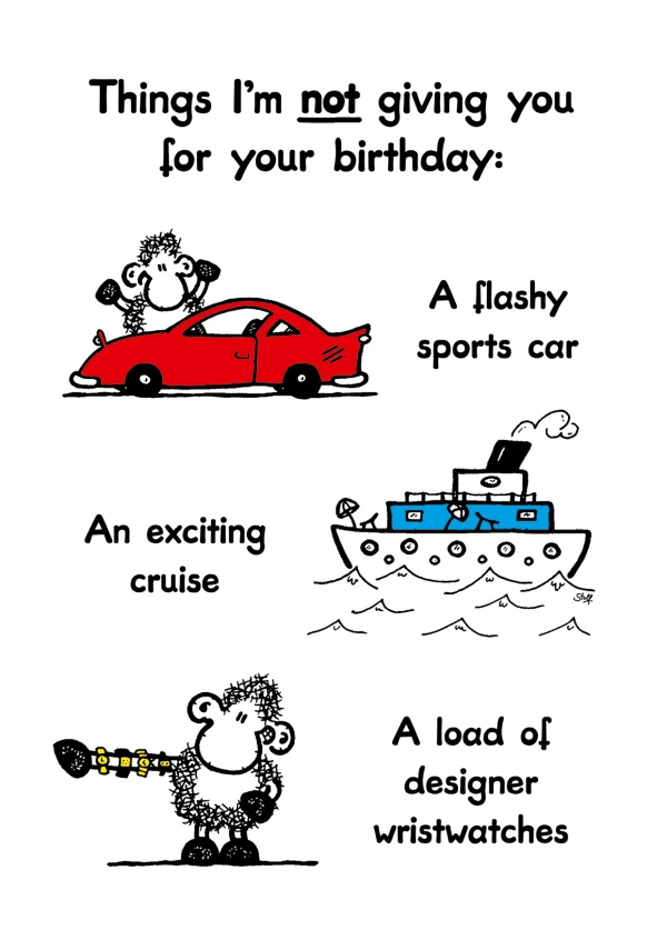 Sheepworld not your Birthday Gifts