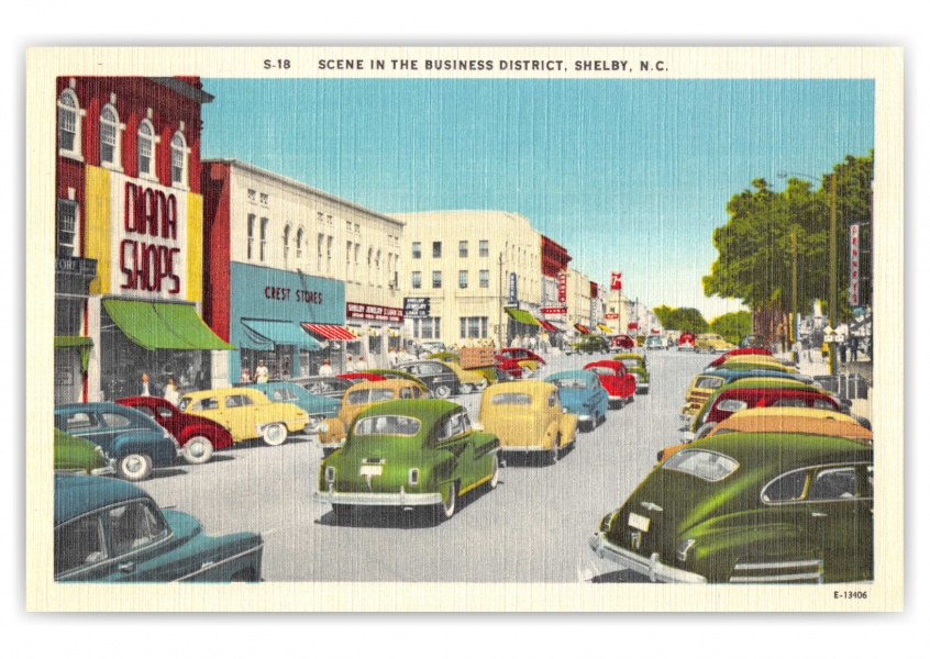 Shelby, North Carolina, buisness district scene