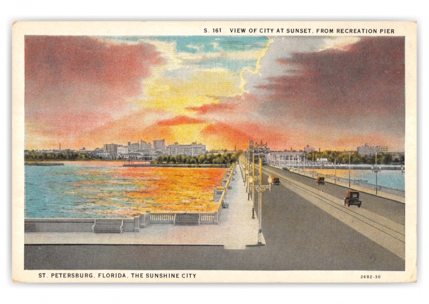 St. Petersburg, Florida, sunset over the city