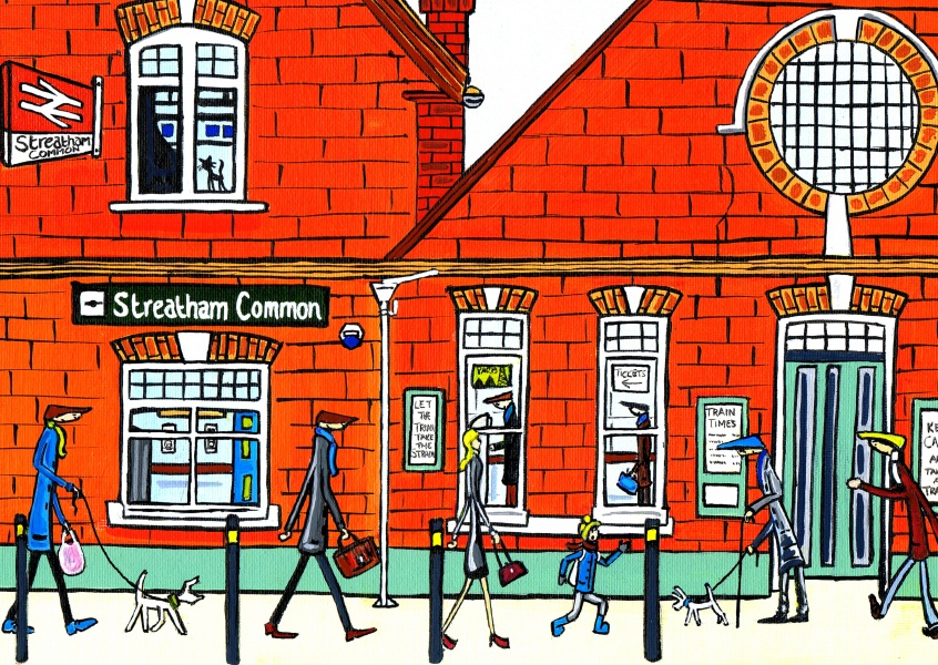 Illustration South London Artist Streatham common lighter
