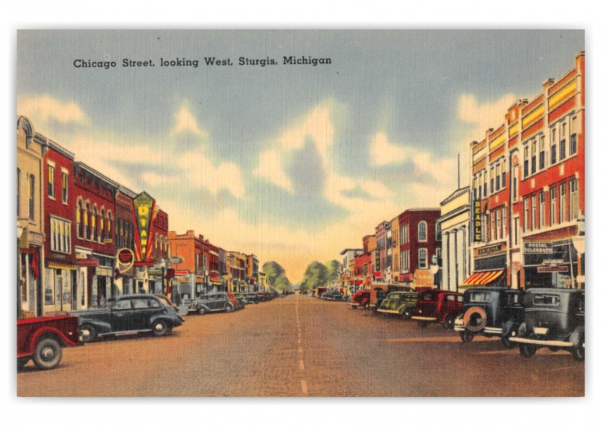Sturgis, Michigan, Chicago Street looking west