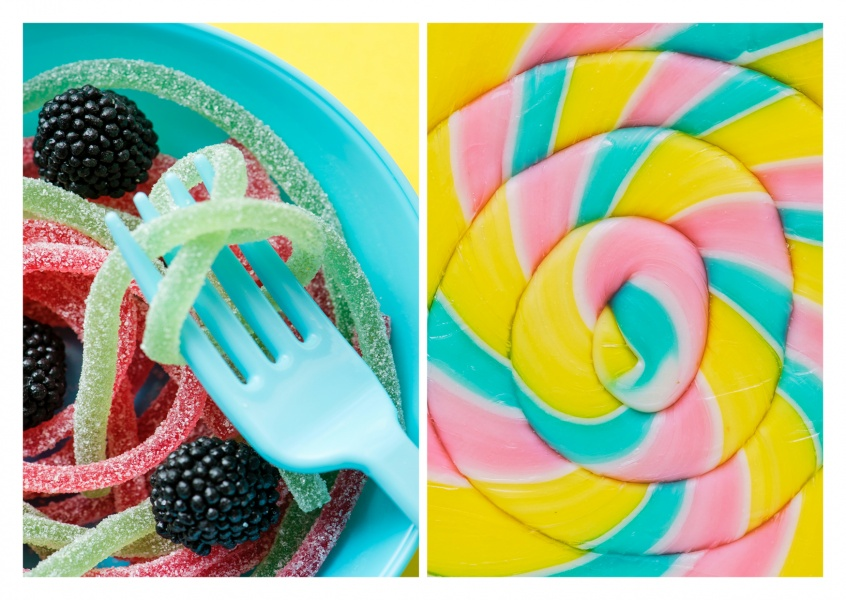 photography colourful sweets