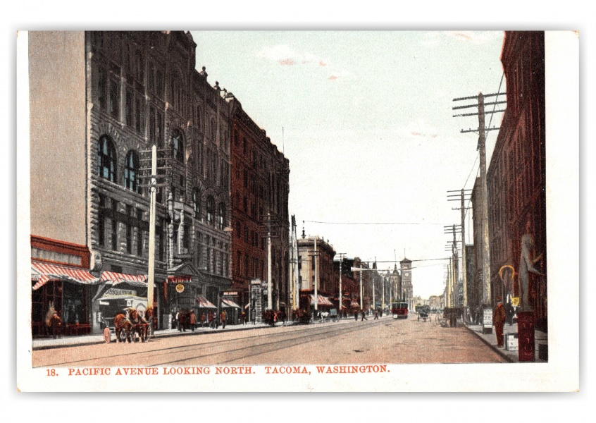 Tacoma, Washington, Pacific avenue, looking north