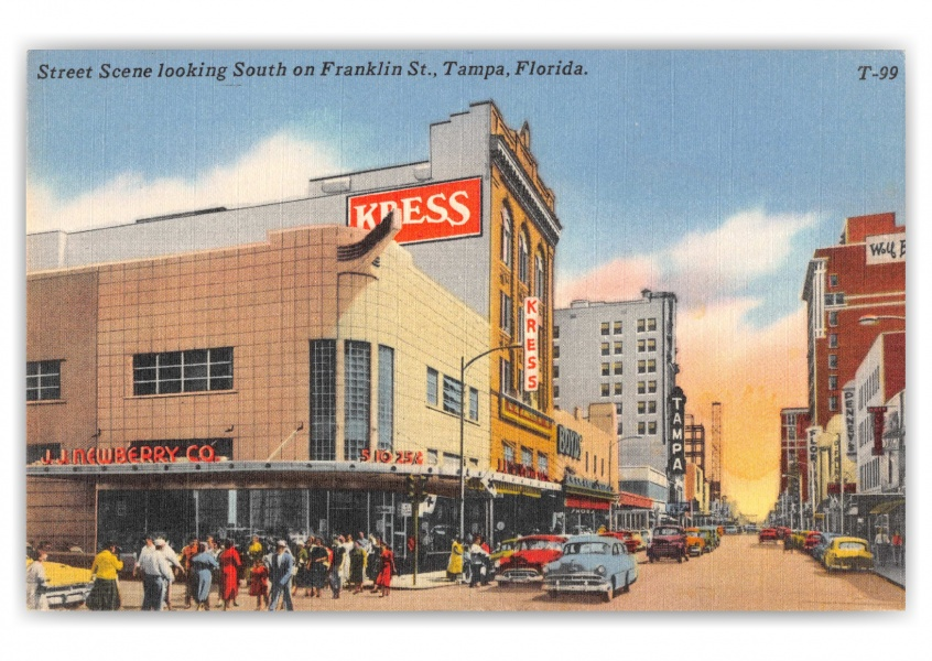 Tampa, Florida, looking south on Franklin Street