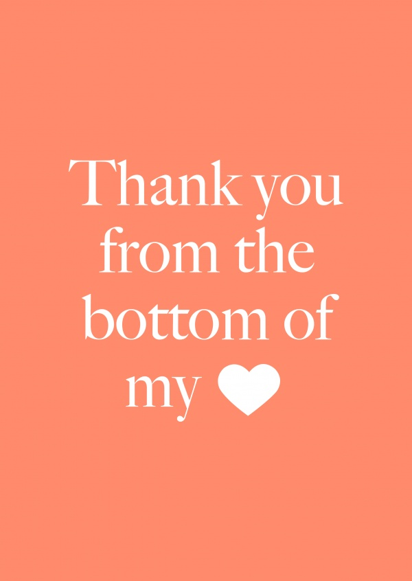 Thank you from the bottom of my ♥