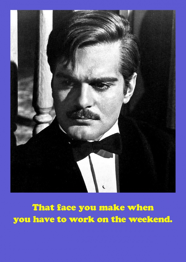 Photo Omar Sharif meme