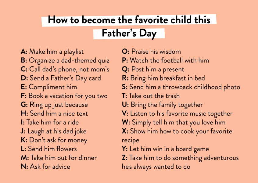 How to become the favorite child this Father's Day