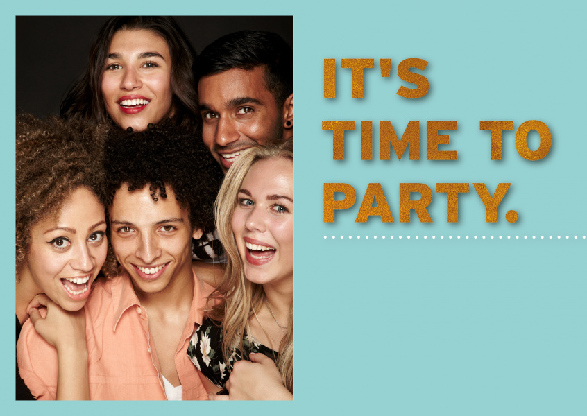 time-to-party-photo-greeting-card-online