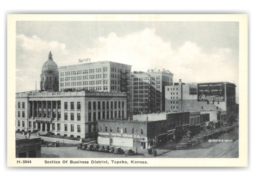 Topeka, kansas, a section of business district