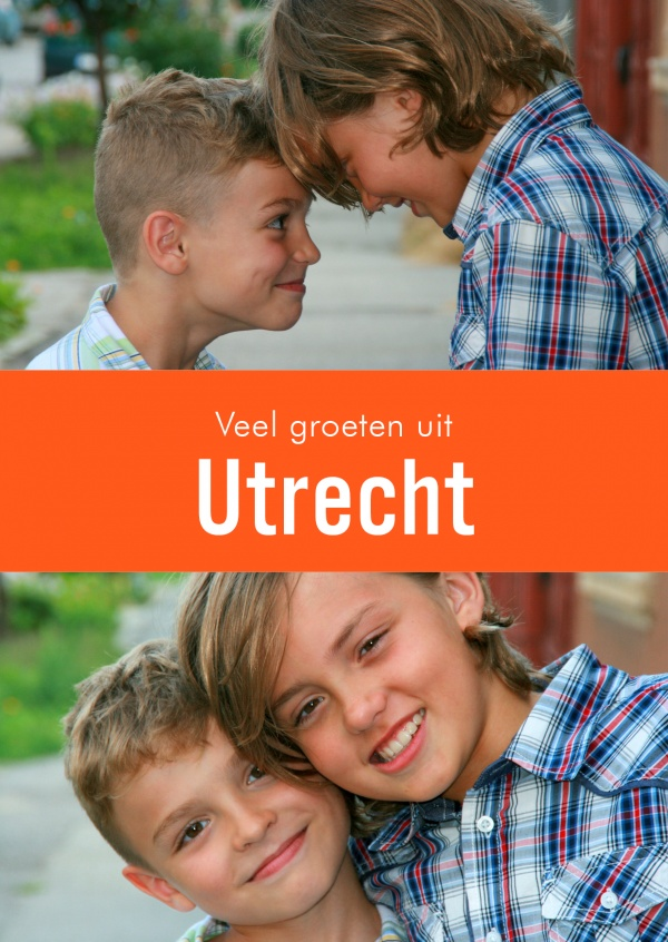 Utrecht greetings in dutch language orange white