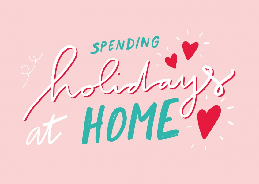 HOLIDAY FROM HOME manuscrita
