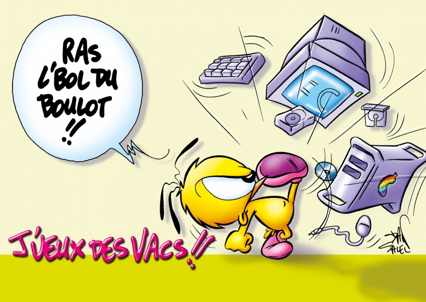 Le Piaf Cartoon J'veux des vacs