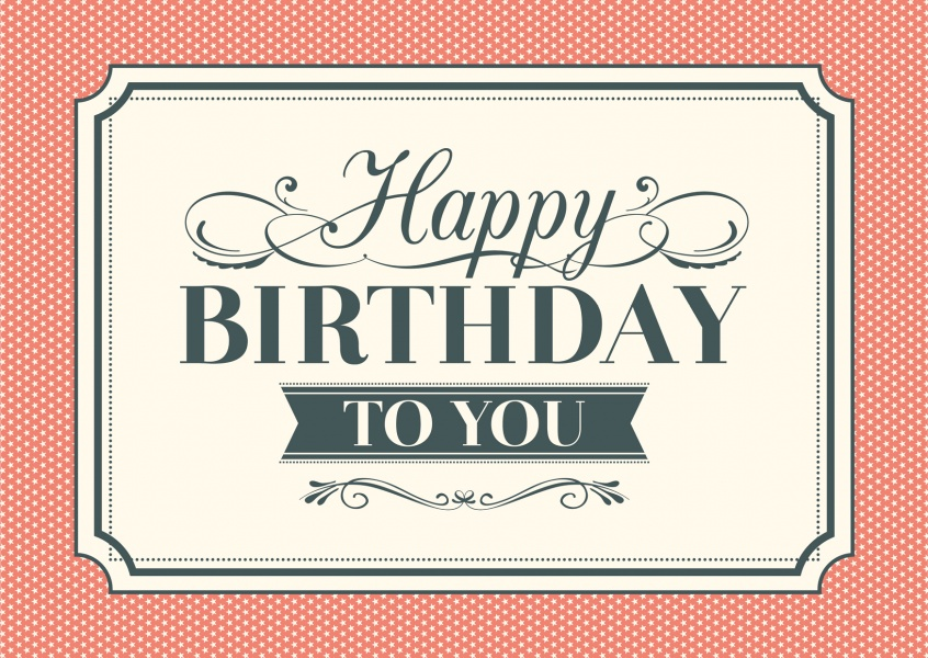 vintage birthday postcard greeting card layout