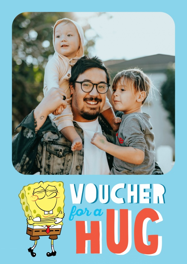 Voucher for a hug - Spongebob hugging himself