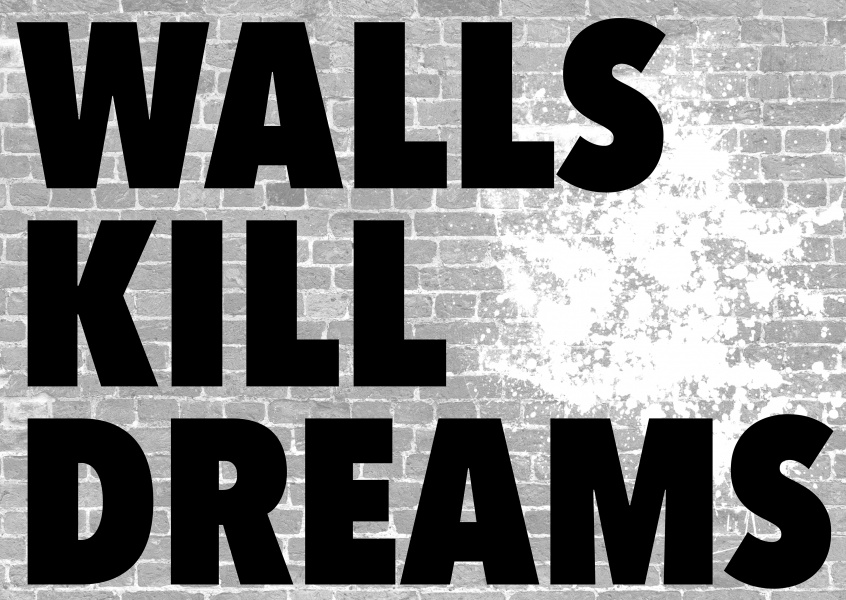 walls kill dreams black and white