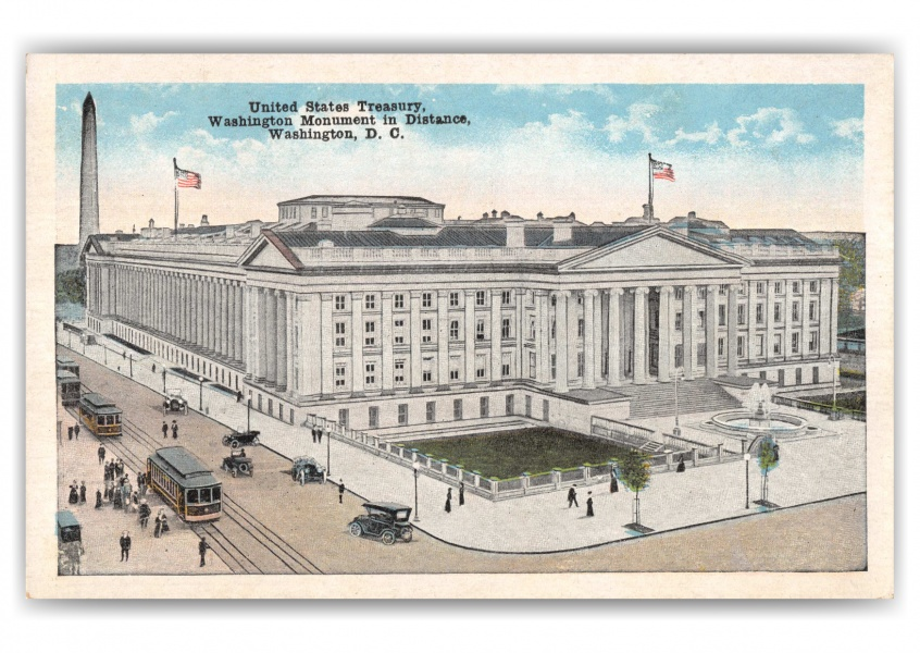 Washington DC, birds-eye US Treasury