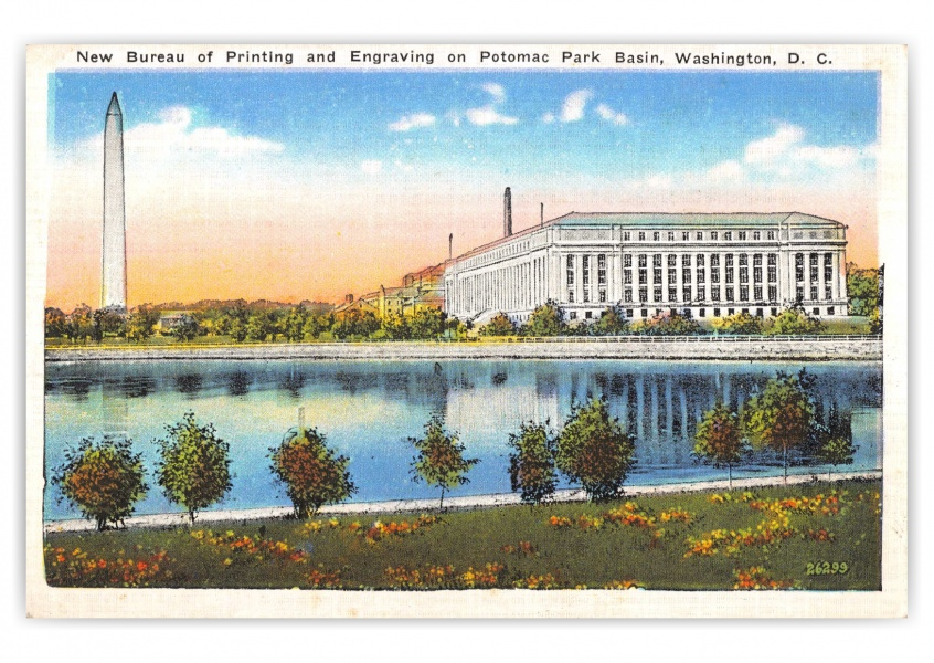 Washington DC, Bureau of Printing and Engraving, Potomac Park Basin