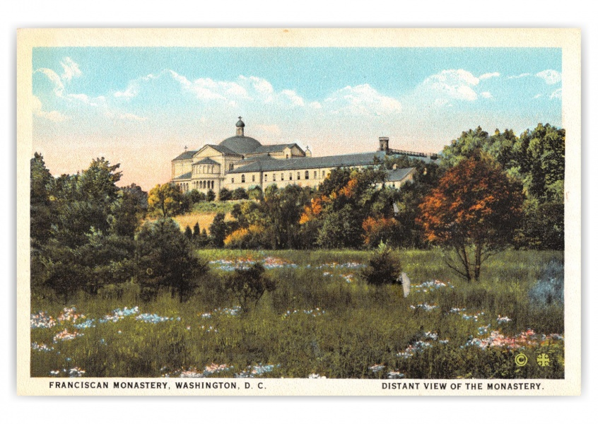 Washington DC, Distant view of Franciscan Monastery